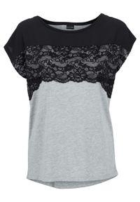 Czarna bluzka bonprix melanż
