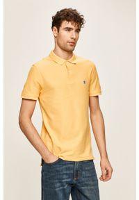 Żółta koszulka polo Izod na co dzień, krótka, casualowa