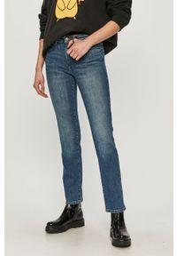 Niebieskie proste jeansy Wrangler