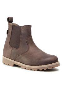 Brązowe buty zimowe Froddo z cholewką, z cholewką przed kolano