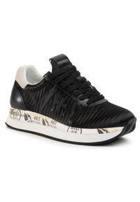 Czarne buty sportowe Premiata na co dzień, z cholewką