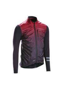 TRIBAN - Bluza rowerowa Triban RC500 Shield. Kolor: czarny, czerwony, wielokolorowy. Materiał: poliester, materiał, elastan. Długość rękawa: długi rękaw. Długość: długie. Sezon: zima. Sport: kolarstwo, wspinaczka