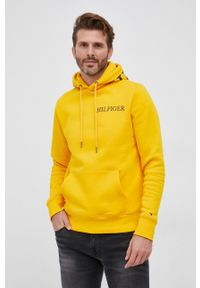 TOMMY HILFIGER - Tommy Hilfiger - Bluza. Okazja: na co dzień. Kolor: żółty. Styl: casual