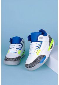Casu - Białe buty sportowe sznurowane casu 201c/bbg. Kolor: biały