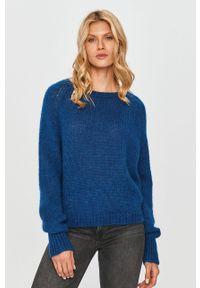 Niebieski sweter MAX&Co. na co dzień, długi, casualowy, z długim rękawem