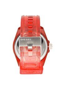 Czerwony zegarek Diesel