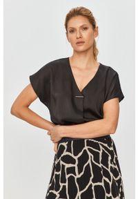 Czarna bluzka DKNY krótka, casualowa