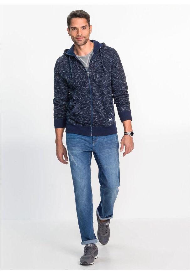 Niebieska bluza bonprix melanż, z kapturem