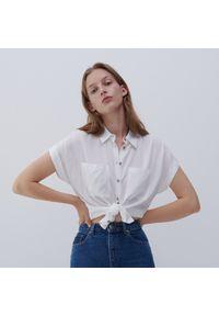 Reserved - Koszula z wiskozy - Kremowy. Kolor: kremowy. Materiał: wiskoza