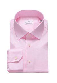 Emanuel Berg - Koszula. Typ kołnierza: kołnierzyk klasyczny. Kolor: różowy. Materiał: tkanina. Styl: klasyczny
