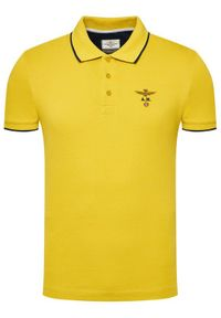 Żółta koszulka polo Aeronautica Militare polo