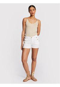 Morgan Szorty jeansowe 201-SHANA1 Biały Regular Fit. Kolor: biały. Materiał: jeans