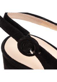 Czarne sandały HÖGL na co dzień, na średnim obcasie, na obcasie, casualowe #7