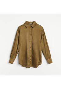 Reserved - Lekka koszula z wiskozy - Zielony. Kolor: zielony. Materiał: wiskoza