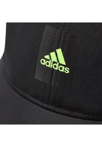 Adidas - Czapka z daszkiem adidas - Lightweight Cap GN2002 Black/Syello. Kolor: czarny. Materiał: materiał, poliester