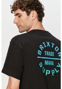 Czarny t-shirt Brixton z nadrukiem, casualowy
