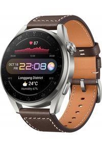 HUAWEI - Smartwatch Huawei Watch 3Pro Brązowy (55026781). Rodzaj zegarka: smartwatch. Kolor: brązowy