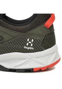 Haglöfs - Trekkingi HAGLÖFS - Trail Fuse Men 498210 Deep Woods/True Black. Kolor: zielony. Materiał: skóra, skóra ekologiczna, materiał. Szerokość cholewki: normalna. Sport: turystyka piesza