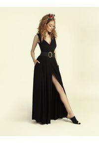 Madnezz - Sukienka Andrea 2.0 - czerń. Materiał: wiskoza, elastan. Typ sukienki: kopertowe