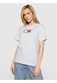 Tommy Jeans T-Shirt Timeless Flag DW0DW09924 Szary Relaxed Fit. Kolor: szary