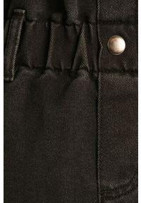 Noisy may - Noisy May - Spódnica jeansowa. Okazja: na co dzień. Stan: podwyższony. Kolor: czarny. Materiał: jeans. Styl: casual