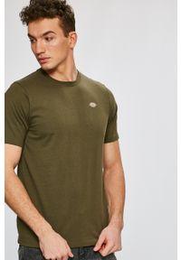 Zielony t-shirt Dickies z okrągłym kołnierzem, na co dzień, casualowy