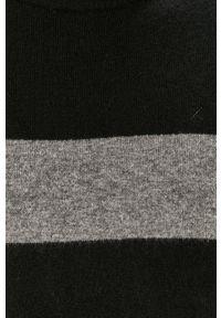 Czarny sweter Clean Cut Copenhagen z okrągłym kołnierzem, na co dzień, casualowy