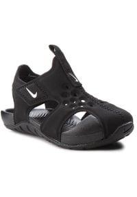 Nike - Sandały NIKE - Sunray Protect 2 (TD) 943827 001 Black/White. Kolor: czarny. Materiał: materiał. Sezon: lato