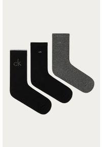 Czarne skarpetki Calvin Klein Jeans z nadrukiem
