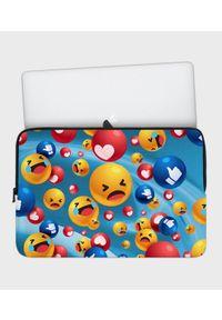 MegaKoszulki - Etui na laptopa 17 cali Emojis. Wzór: nadruk