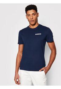 Napapijri T-Shirt S-Surf NP0A4F7F Granatowy Regular Fit. Kolor: niebieski