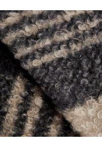 MARLU - Oversize'owy płaszcz w kratę. Okazja: na co dzień. Kolor: czarny. Materiał: wełna. Długość rękawa: długi rękaw. Długość: długie. Sezon: jesień, zima. Styl: casual
