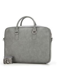 Szara torba na laptopa Wittchen