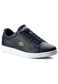 Lacoste Sneakersy Carnaby Evo Bl 1 Spm 7-33SPM1002003 Granatowy. Kolor: niebieski. Model: Lacoste Carnaby Evo