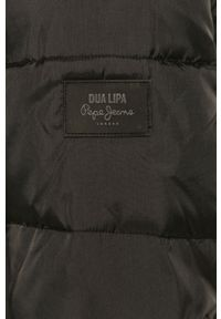 Czarna kurtka Pepe Jeans z kapturem, casualowa