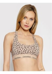 Calvin Klein Underwear Biustonosz top 0000F3785E Beżowy. Kolor: beżowy