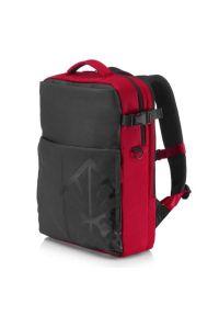 Czerwony plecak na laptopa HP elegancki
