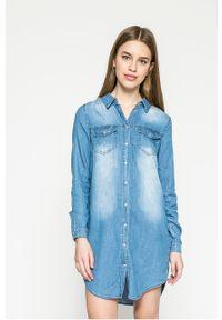 Niebieska sukienka Vila casualowa, prosta, na co dzień