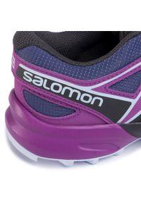 Fioletowe półbuty salomon z cholewką