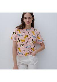 Reserved - Bawełniany t-shirt - Wielobarwny. Materiał: bawełna