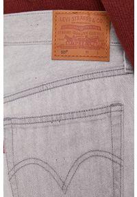 Levi's® - Levi's - Szorty jeansowe. Okazja: na co dzień, na spotkanie biznesowe. Kolor: szary. Materiał: jeans. Wzór: gładki. Styl: casual, biznesowy
