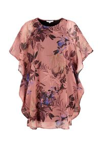Różowa sukienka Zhenzi z okrągłym kołnierzem, elegancka