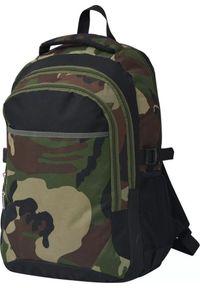 vidaXL Plecak szkolny czarny i moro 40 l. Kolor: czarny. Wzór: moro