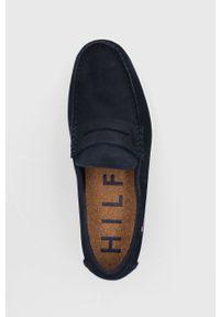 TOMMY HILFIGER - Tommy Hilfiger - Mokasyny zamszowe. Nosek buta: okrągły. Kolor: niebieski. Materiał: zamsz #5