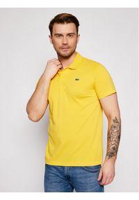 Lacoste Polo DH2881 Żółty Regular Fit. Typ kołnierza: polo. Kolor: żółty