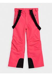 4f - Spodnie narciarskie dziewczęce (122-164). Kolor: różowy. Materiał: poliester. Sport: narciarstwo