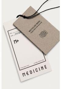 medicine - Medicine - Płaszcz Essential. Okazja: na co dzień. Kolor: czarny. Materiał: wełna. Styl: klasyczny, casual