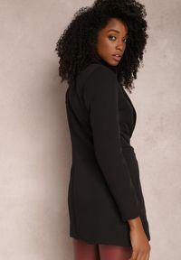 Renee - Czarna Marynarka Iseope. Kolor: czarny. Materiał: tkanina. Długość: długie. Wzór: jednolity. Styl: elegancki #3
