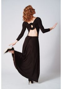 Czarna sukienka Hultaj Polski na lato, casualowa, na imprezę, z aplikacjami