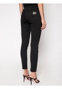 Elisabetta Franchi Jeansy Slim Fit PJ-81S-11E2-V240 Czarny Slim Fit. Kolor: czarny. Materiał: jeans